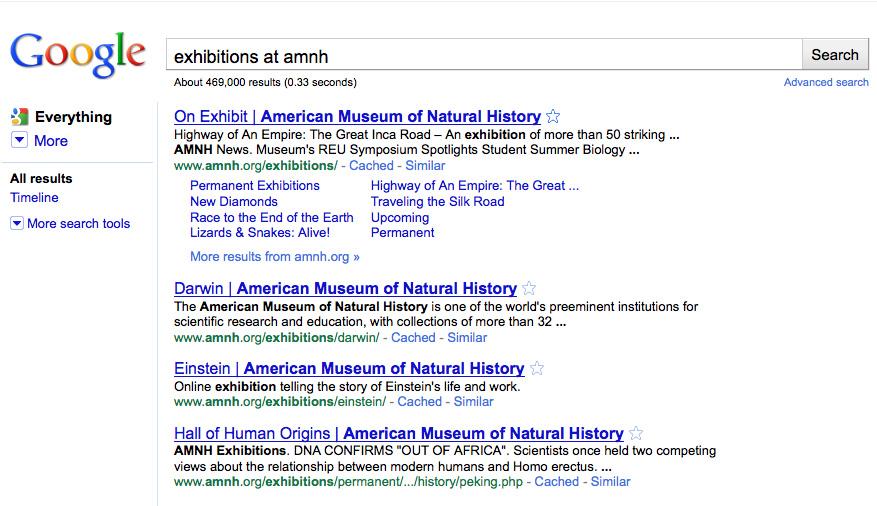 Réultats de Google