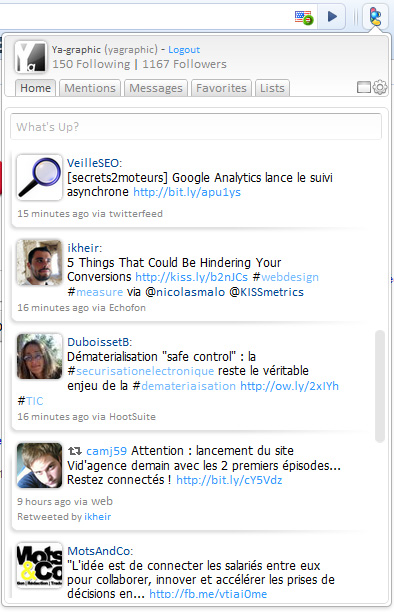 Chrowety : client twitter pour Chrome