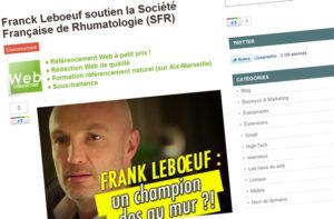 Franck Leboeuf soutien la Société Française de Rhumatologie (SFR)
