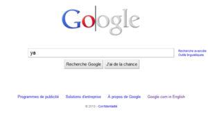 Google Doodle gris et blanc
