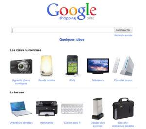 google shopping français en version bêta