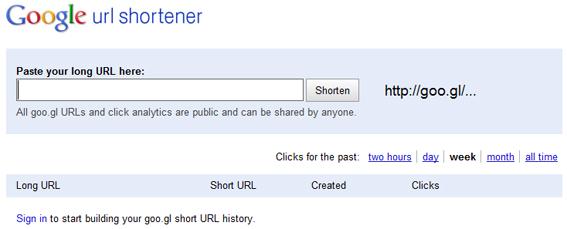 Goo.gl : le raccourcisseur d'URL de Google sur les pas de Bit.ly ?
