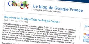 blog officiel de Google France