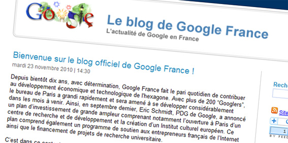 blog officiel de Google France
