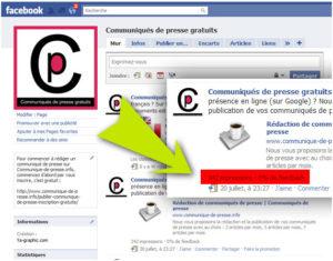 L'indicateur d'impressions et de feedback sur Facebook.