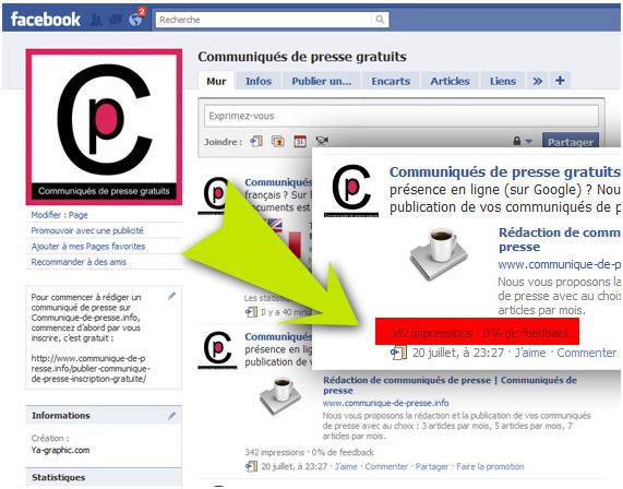 Page Facebook de Communique-de-presse.info