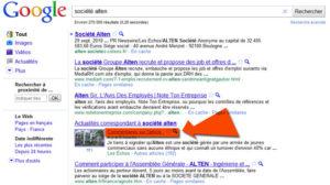 commentaires dans les résultats de recherche de Google Actualités