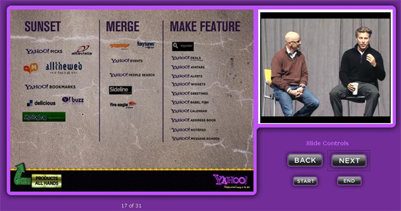fermeture de sites de Yahoo!