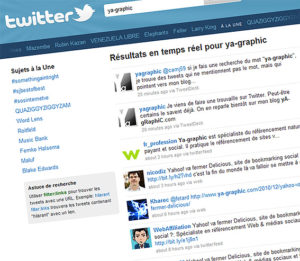 Moteur de recherche de Twitter