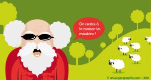 Allégorie : Le berger aveugle peut-il surveiller et guider son troupeau ?