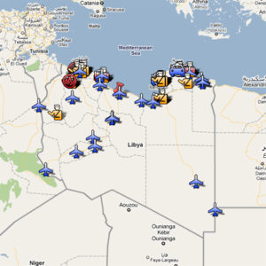 manifestations en Libye sur Google Maps
