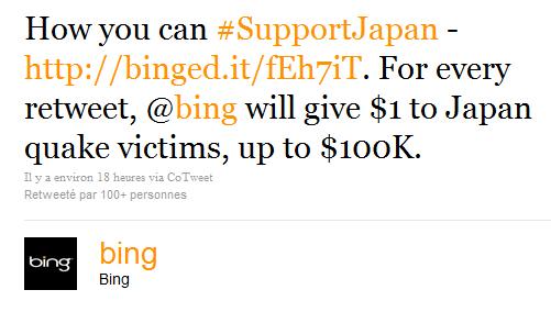 Le tweet controversé de Bing sur Twitter à propos du Japon
