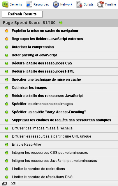 PageSpeed pour Chrome