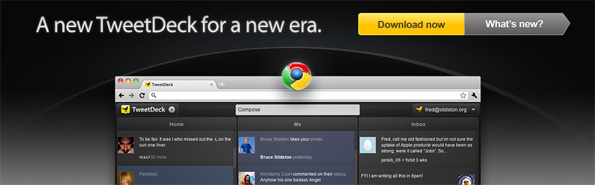 TweetDeck Chrome et TweetDeck Web