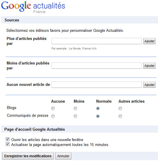 Les blogs et les plateformes de communiqué dans le collimateur de Google.