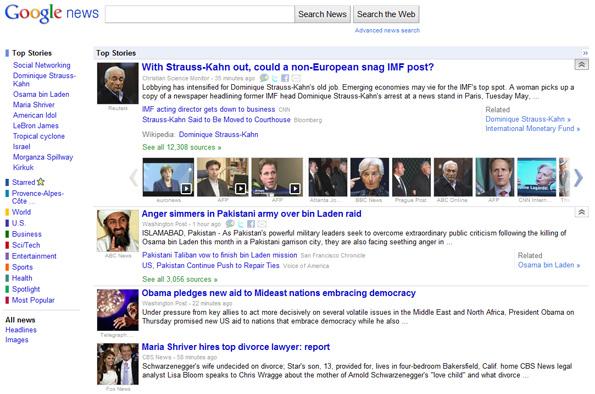 Plus de médias dans Google News (US) !