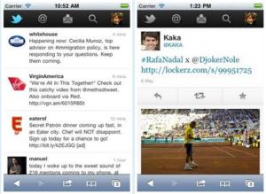 La nouvelle version de Twitter pour mobiles