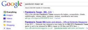 Disposition actuelle des URL dans les résultats de recherche de Google