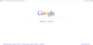 Nouveau design de la page d'accueil de Google, juin 2011