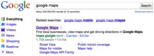 Résultats de recherche de Google, affichage de +1