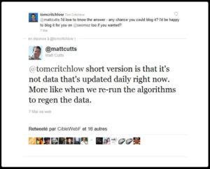 Matt Cutts répond à Tom Critchlow à propos de Panda