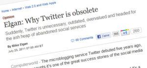"Mike Elgan : ""Pourquoi Twitter est obsolete"""