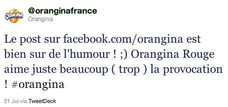 Orangina sur Twitter