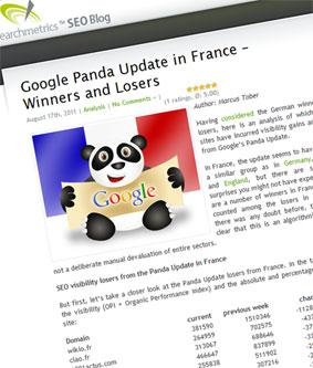 Google Panda en France, les sites gagnants et perdants