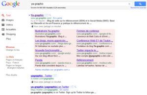 Actuellent Google teste des sitelinks beaucoup plus grands.