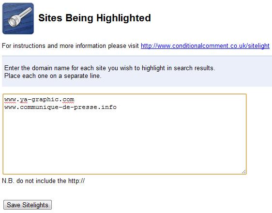 SiteLight, surligner son site dans les résultats de recherche de Google