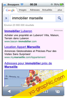 Google AdWords pour les mobiles