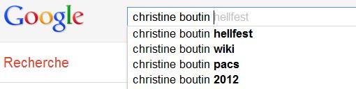 Christine Boutin - Recherche suggestions de Google