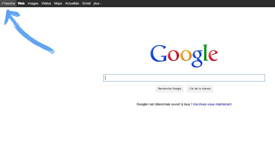 La page d'accueil de Google