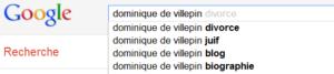 Dominique de Villepin - Suggestion de la recherche Google