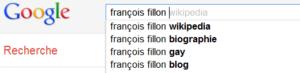 François Fillon - Recherche Google suggestions