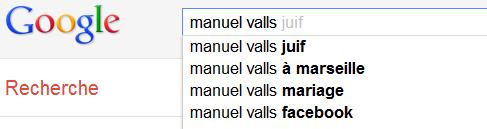 Manuel Valls - Suggestions Google