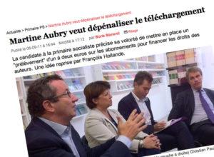 Martine Aubry veut abroger la HADOPI