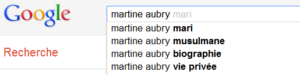 Martine Aubry - Suggestions de Google