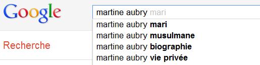 Martine Aubry - Suggestions de Google