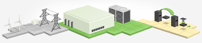 Schéma d'un centre de données de Google