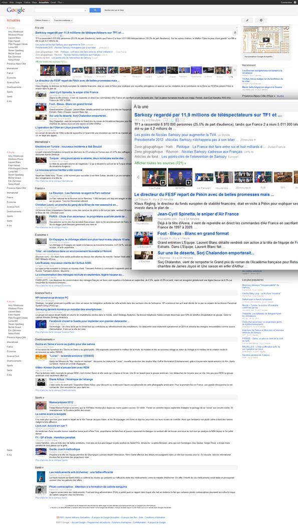Google Actualités: nouveau design et nouvelles options