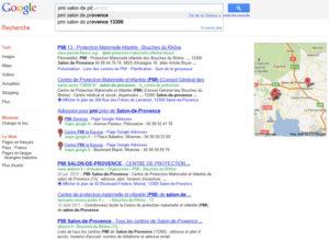 """Résultats de recherche de Google """"PMI Salon de Provence"""""""