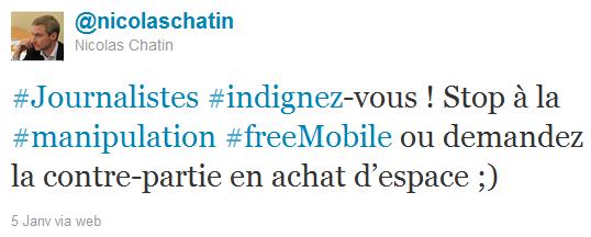 #Journalistes #indignez-vous ! Stop à la #manipulation #freeMobile ou demandez la contre-partie en achat d'espace ;)