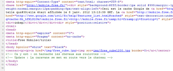 Code source de la page Mobile.free.fr