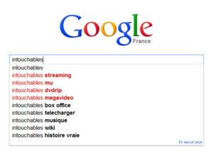Suggestions de Google : film Intouchables