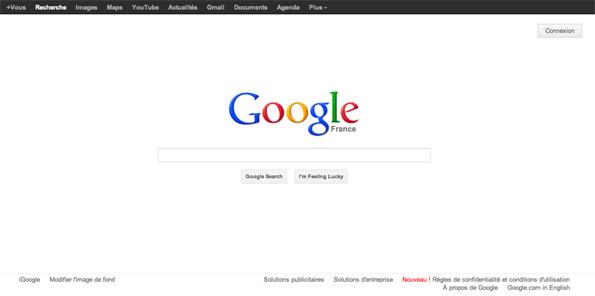 Page d'accueil de Google - 25 février 2012
