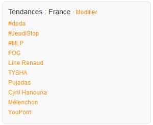 Le hashtag #dpda au top des tendances Twitter