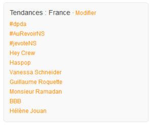 #DPDA Tendances Twitter en France