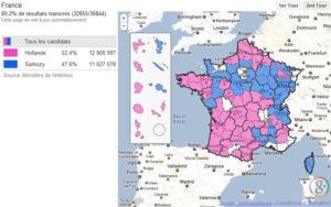 Présidentielle 2012: Résultats des votes dans tous les départements de France