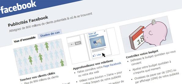 La publicité sur Facebook.com